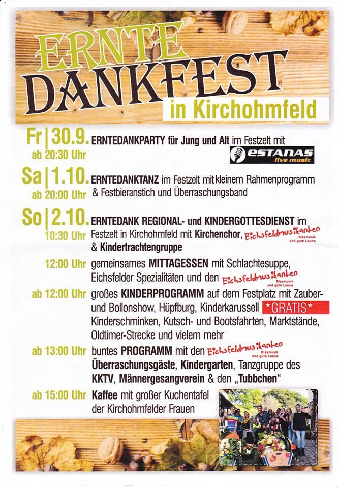 Erntedankfest in Kirchohmfeld